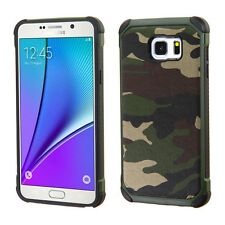 Samsung Galaxy Note 5 Rubber IMPACT TRI HYBRID Case Skin Phone Cover Accessory