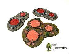 Wargames Scenery Terrain 3pc Resin Toxic/Bio Pools - Warhammer, GoA . UNPAINTED