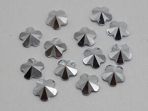 500-Silver-Acrylic-Flower-Pyramid-Flatback-Rhinestone-Gems-8mm