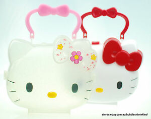 7e8a0f0819 Image is loading HELLO-KITTY-HANDBAG-CASE-lightweight-plastic-Authentic- Sanrio-