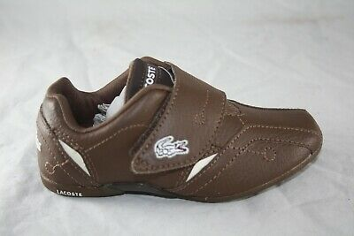 TODDLER LACOSTE PROTECT WF SPI LEATHER DARK BROWN//LIGHT BROWN