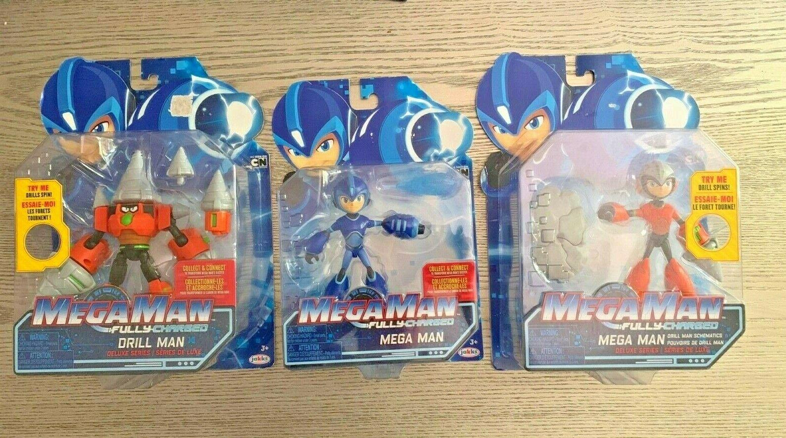 Mega Man Fully Charged Trio Deluxe Series Megaman NIP