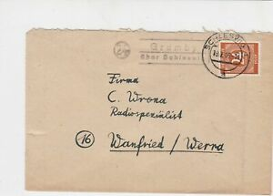 germany 1946 allied occupation stamps cover ref 18675