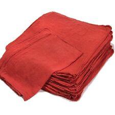 1000 NEW WIPERS MECHANICS RAG SHOP RAGS TOWELS RED LARGE JUMBO 15X15