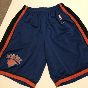 new product c26db 0cde9 Details about Vintage New York Knicks Nike Shorts Mesh NBA Basketball Size  Large RARE Stitched