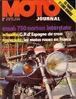 MOTO JOURNAL 64 NORTON 750 Interstate Commando Side Car URAL MONTESA 500 1972