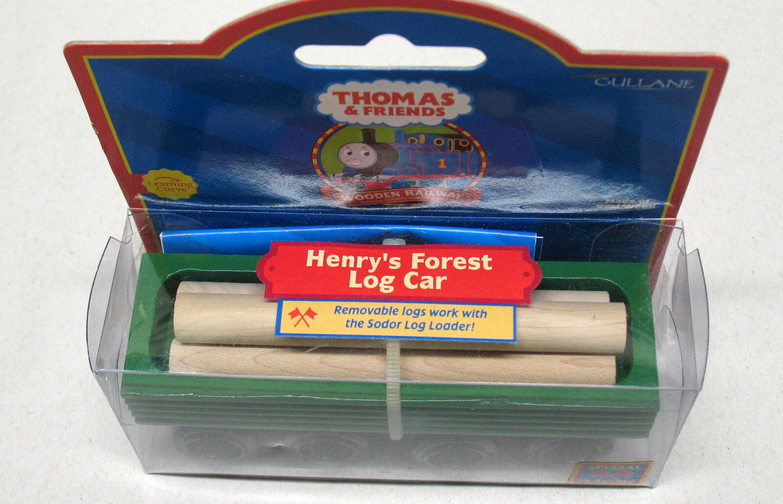 Thomas & Friends, Wooden, Henry's Forest Log Car (Grün) LearningCurve,2001,NIB