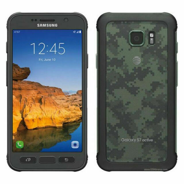 Samsung Galaxy S7 Active Sm G891 32gb Camo Green At T Smartphone For Sale Online Ebay