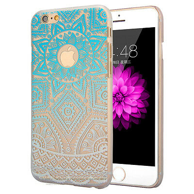 New Henna Floral Mandala PC Hard Case Cover For iPhone 6 6S Plus Paisley Design