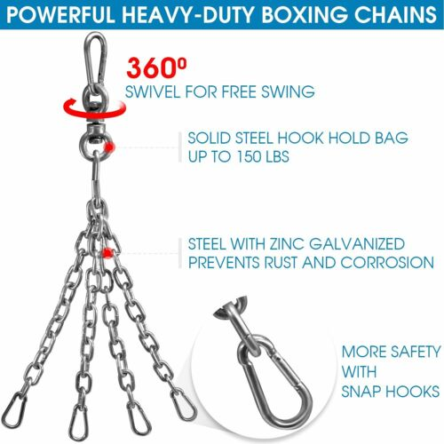 Workout Equipment For Men Heavy Training Bag Stand Kick  Wall Mount Boxing Chain