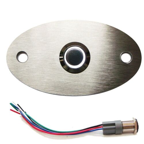 LED Taster Tür Klingel Haus Oval Farben Kabel Design Klingelplatte div