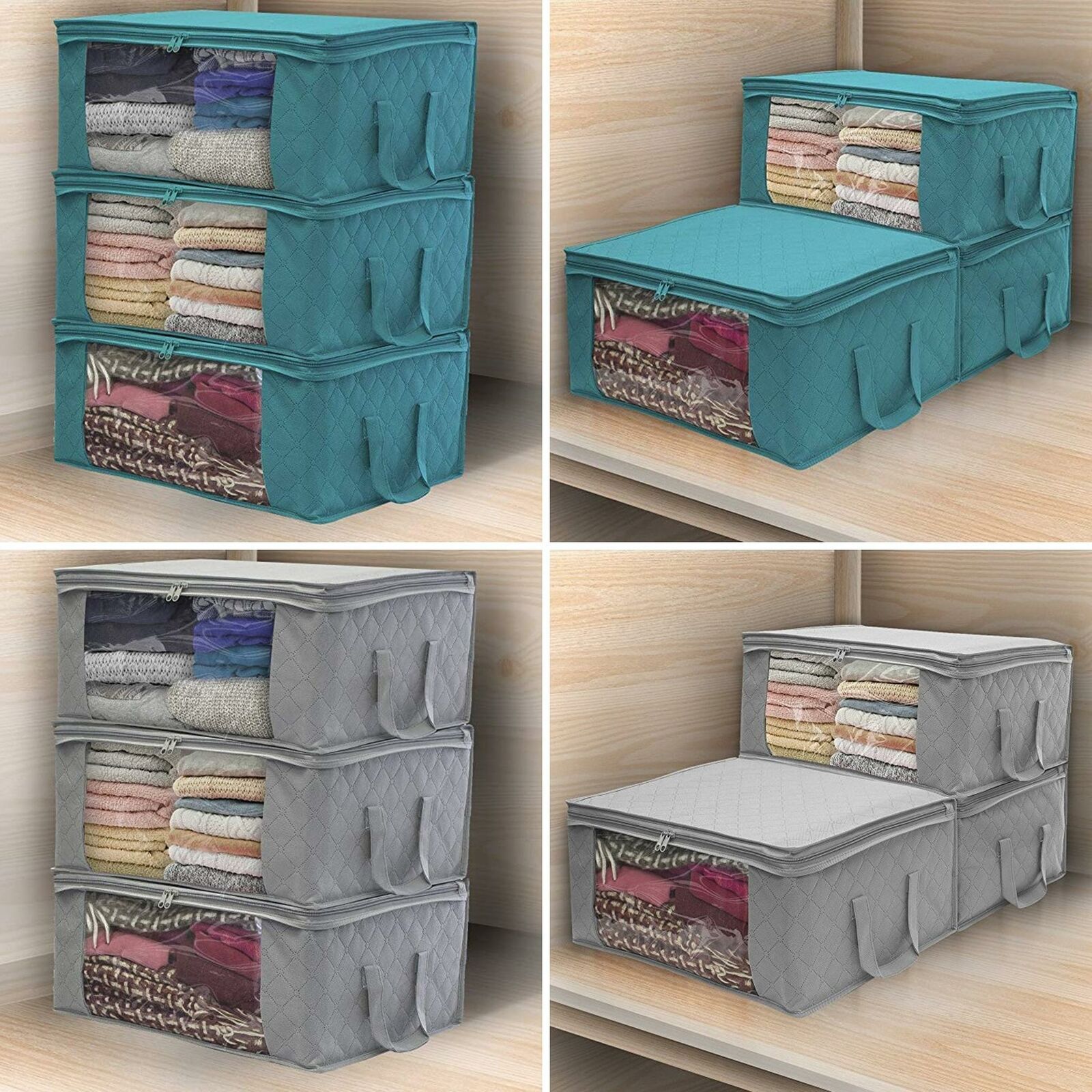 Foldable Storage Bag Clothes Blanket Quilt Closets Box Sweater Hot Organizer For Sale Online