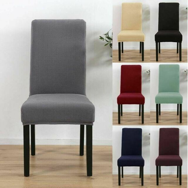2/4/6/8PCS Dining Chair Covers Removable Elastic Stretch Slipcover Room Seat Lot