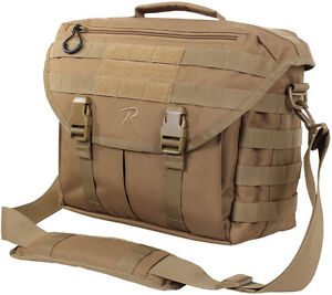 Image is loading Coyote-Brown -Covert-Dispatch-Tactical-Breifcase-Laptop-Shoulder- ec16facfa5