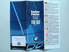 Prospekt BMW 7er E 23 - 728i, 732i, 735i, 745i Farben/Polster, 3.1982, 12 Seiten