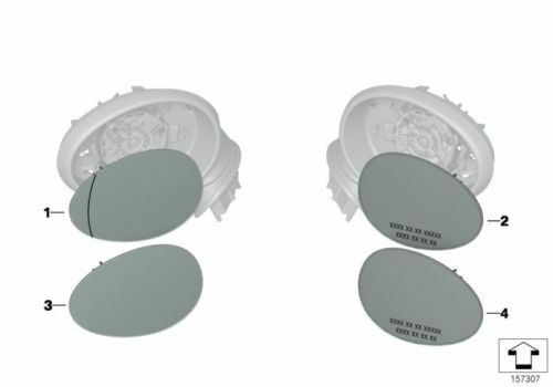 MINI Genuine Wide Angle Blind Spot Mirror Glass Right N//S Passenger 51162755625