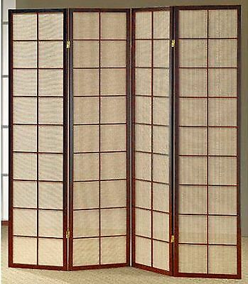 3 & 4 Panel Fabric In Lay Espresso Room Screen Divider