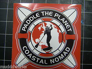 Coastal Nomad Red Paddle the Planet sticker Stand up Paddle boards SUPdecal surf