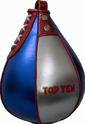 "Abile Top Ten Restituirmi ""metallic"" In Vera Pelle. Box. Kick Boxe. Riflessi. Speed.-"