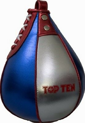 Reflexe Kickboxen Boxen Boxbirne Top Ten- Speedball aus echtem Leder Speed.