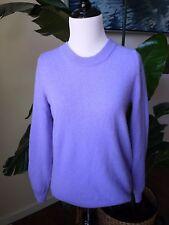 enya mantanani 100% cashmere crewneck sweater purple lilac M S pit to pit 16.5