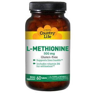 L-Methionine-with-B-6-60-Tabs-500-MG-by-Country-Life