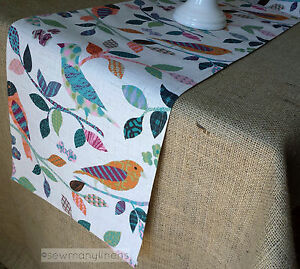 Colorful-Vintage-Table-Runner-Home-Decor-Linens-Table-Centerpiece-Dining-Bird
