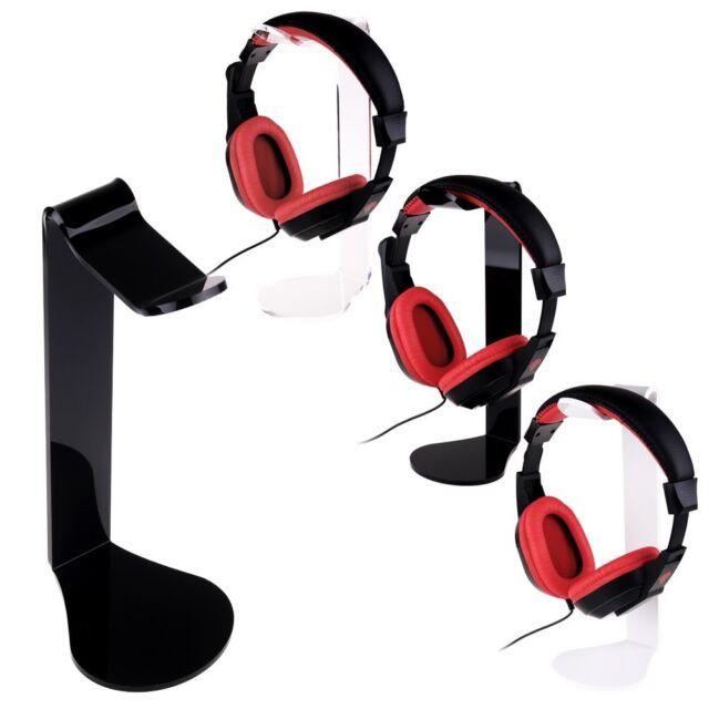 Acrylic Headphones Headset Stand Holder Mount Desk Display Hanger Holder Gaming