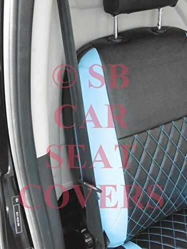 SEAT COVERS 2019 TO FIT A FORD TRANSIT CUSTOM VAN BLACK // BLUE DIAMOND