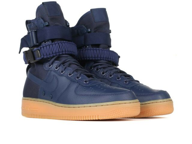 bfdc974a832325 Nike SF Af1 Air Force 1 Special Forces Midnight Navy Gum 864024 Size ...