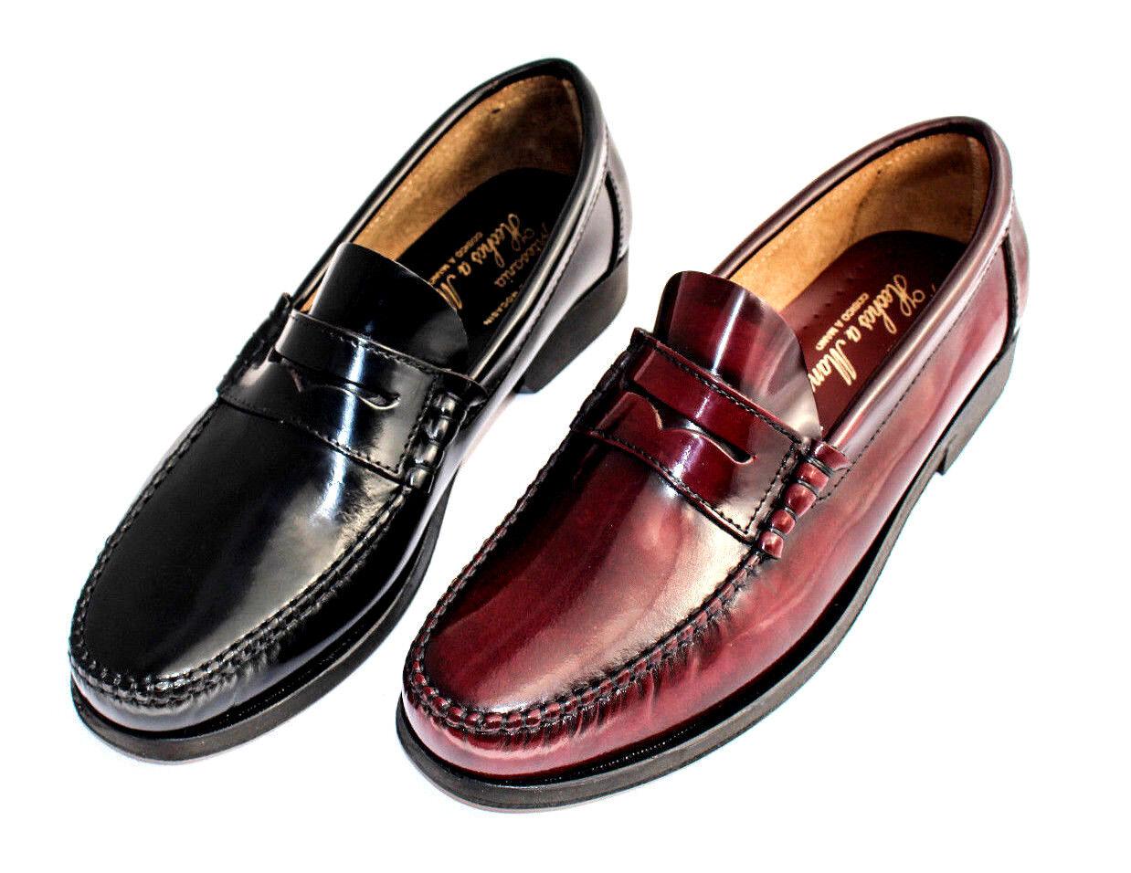 Herren Loafer Leder Schuhe Castellanos Penny Loafer Herren Handmade Leather Shoes Mokassins 36ead3