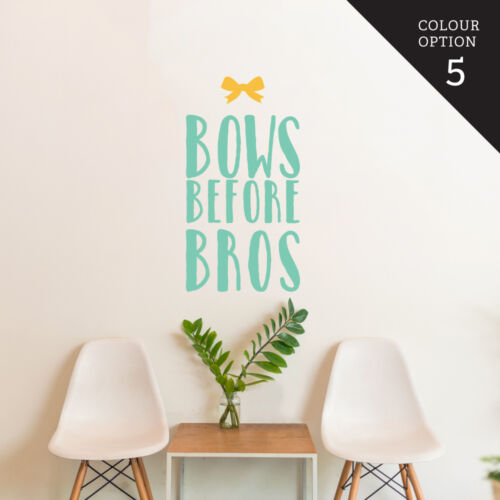 Bow Before Bros Wall Sticker Home Quotes Inspirational Love MS025VC