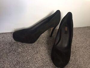 ASOS Beautiful Women Real Suede Black High Heels Court Shoes 5 UK 38 EU