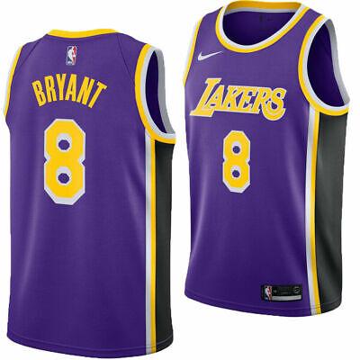 Nike LA Lakers Kobe Bryant Swingman Field Purple Jersey AV3701-504 Size S 40