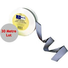 30m x 25mm Reflective Silver Sew on Tape - Bias Binding, Hi Vis, Mining, Fabric
