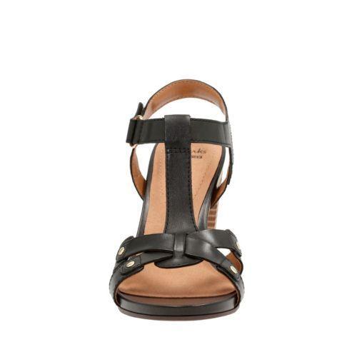 8b71cec4c7dd 2 of 7 Clarks Women s Banoy Valtina Dress Sandal Black Leather 26124677