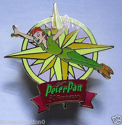Disney Auctions Peter Pan 50th Anniversary Pin Set Peter LE 100 Pin