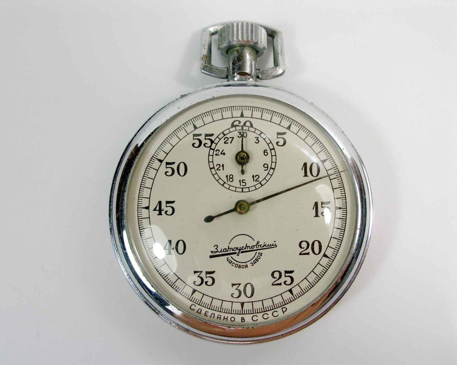 Vintage Old USSR Russian Rare Stopwatch stop watch Zlatoustovsky (A76)