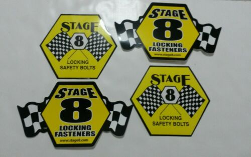 perfect for tool box and  racing cars Lot of 4 STAGE 8 Sticker Decal