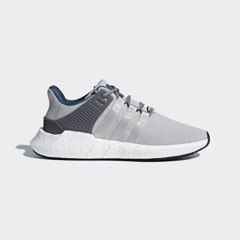 Adidas Originals Mens EQT Support 93/17 Shoes Casual Sneakers Gray Boost CQ2395