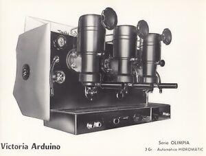 Machine-a-cafe-Victoria-Arduino-serie-OLIMPIA-3-groupes-tirage-circa-1958