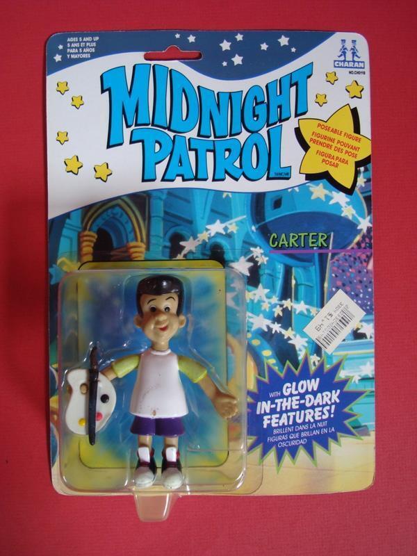 Midnight Patrol Carter - Sealed On Card Glow in the dark Hanna - Barbera 1991