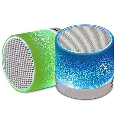 Portable Bluetooth FM Speaker Handsfree Calling USB/AUX/MicroSD Slot LED Lights