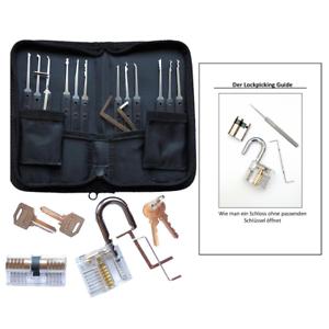 Dietrich Set Inklusive Buch Und 2 Übungsschlösser Lockpicking Set 18 Teilig