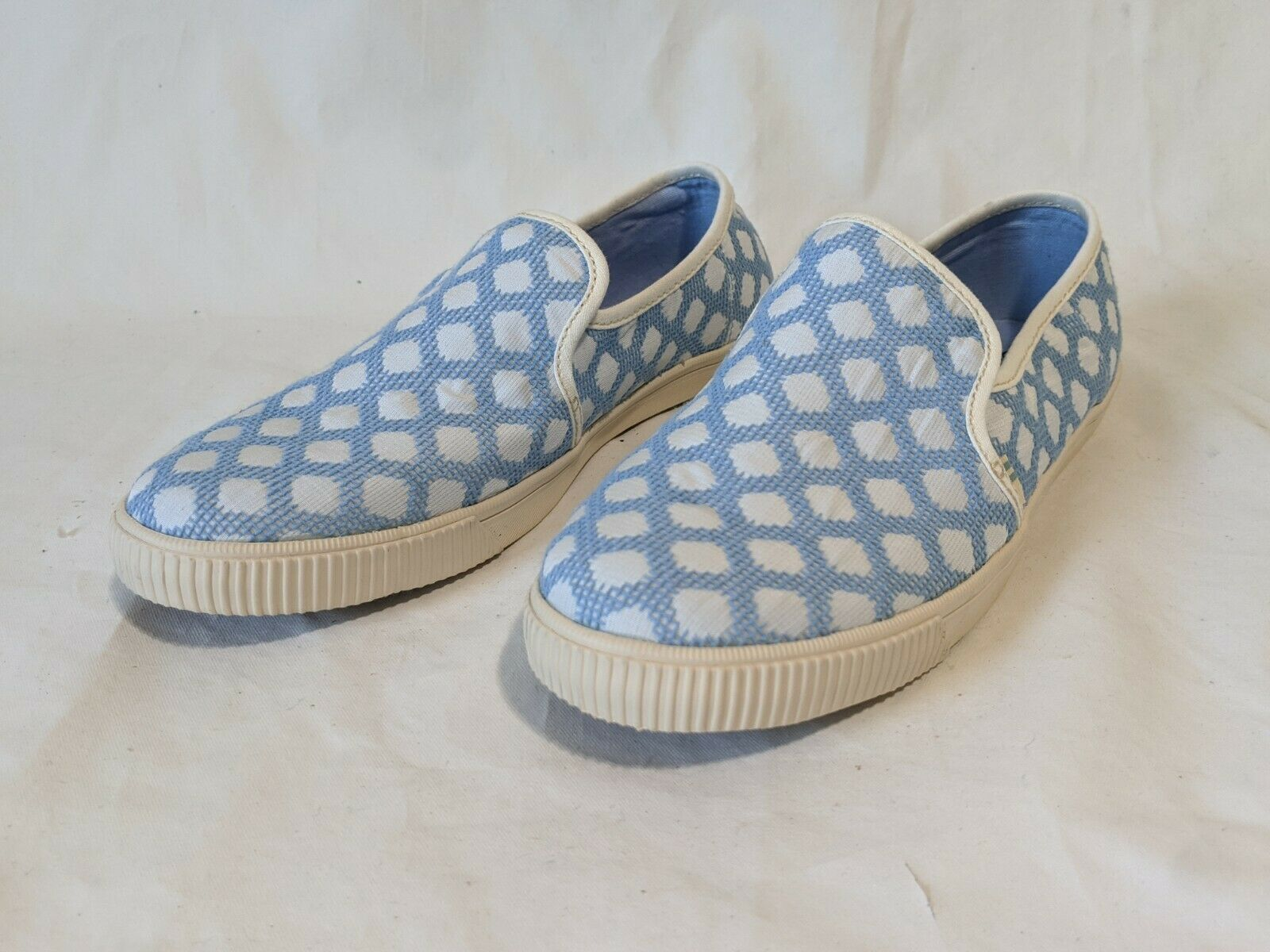 TOMS Women's Clemente Bliss Blue Large Dots Slip-On Topanga Shoes