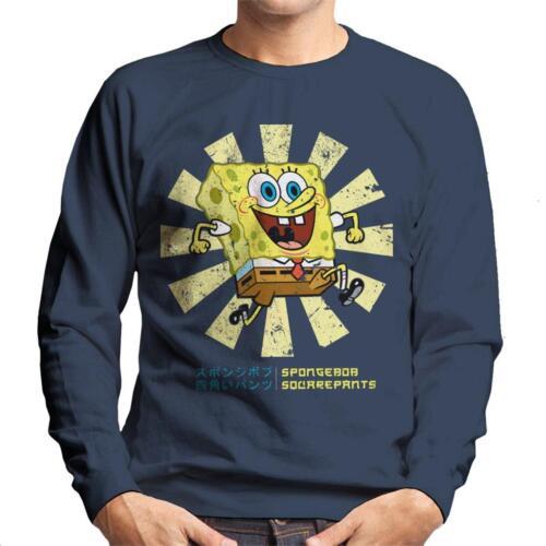 SpongeBob SquarePants Retro Japanese Men/'s Sweatshirt