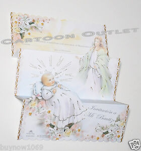12 BAPTISM INVITATIONS SPANISH ANGEL Guarda INVITACIONES BAUTIZO