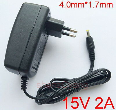AC Adapter DC 15V 2A Switching Power Supply Charger EU plug 4.0mm x 1.7mm 2000mA