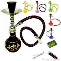 8' Mini Shisha Small Hookah Sheesha Smoking Pipe Pink Black Green Yellow Blue