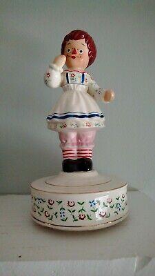 Vintage Raggedy Ann Character Barrette Hair Clip 1980 Bobs-Merrill